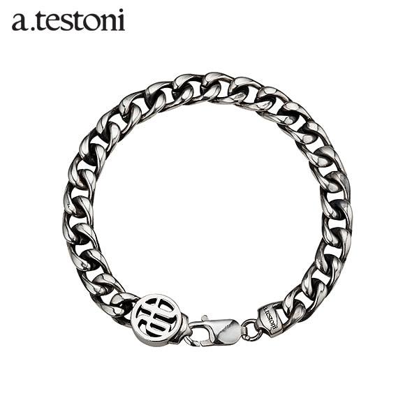 [아.테스토니 / a.testoni] a.t 체인 실버 남성 팔찌 AJMB006SAN20A a.t Chain Bracelet