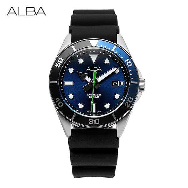 [알바시계 ALBA시계] AG8K17X1 / 다이버 Diver 남성용 우레탄시계 40mm 타임메카