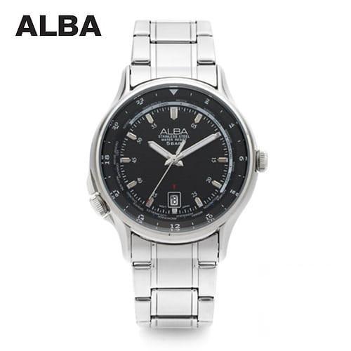 [알바시계 ALBA시계] AS9489X 블랙다이얼 남성 메탈시계 41mm