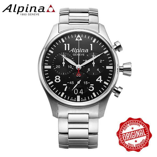 [알피나 ALPINA] AL-372B4S6B Startimer Pilot Big Date Chronograph 44mm