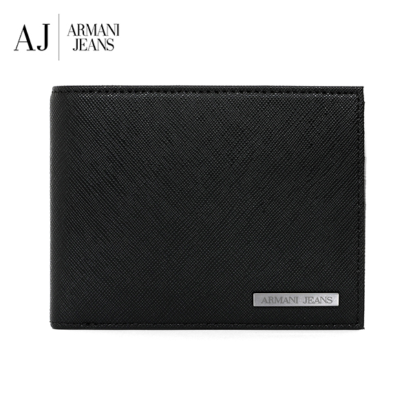 [아르마니진 ARMANI JEANS] 938538 CD991 00020 / MAN WALLET with Coin BLACK 반지갑 타임메카
