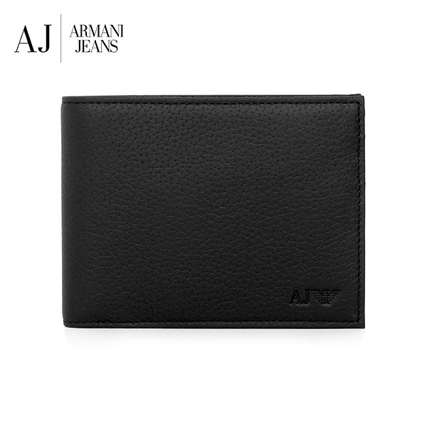 [아르마니진 ARMANI JEANS] 938538 CD992 00020 / MAN WALLET with Coin BLACK 반지갑 타임메카
