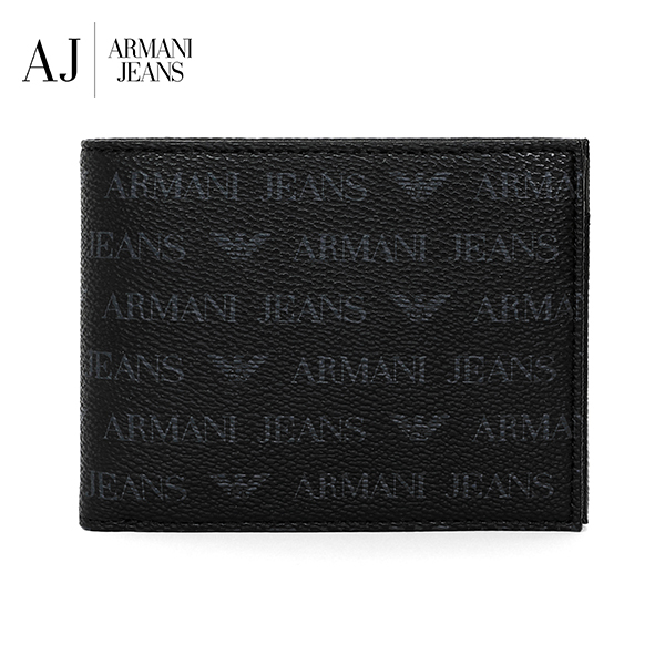 [아르마니진 ARMANI JEANS] 938538 CD996 00020 / MAN WALLET with Coin BLACK 반지갑 타임메카