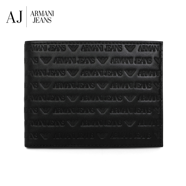 [아르마니진 ARMANI JEANS] 938538 CD999 00020 / MAN WALLET with Coin BLACK 반지갑 타임메카