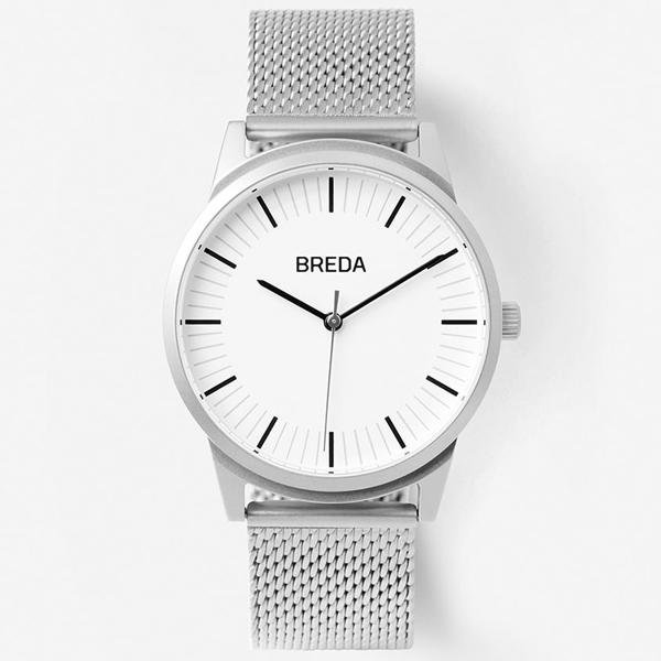 [브레다 BREDA] Bresson(metal)-Silver 5020J 매쉬 밴드 39mm 브레슨