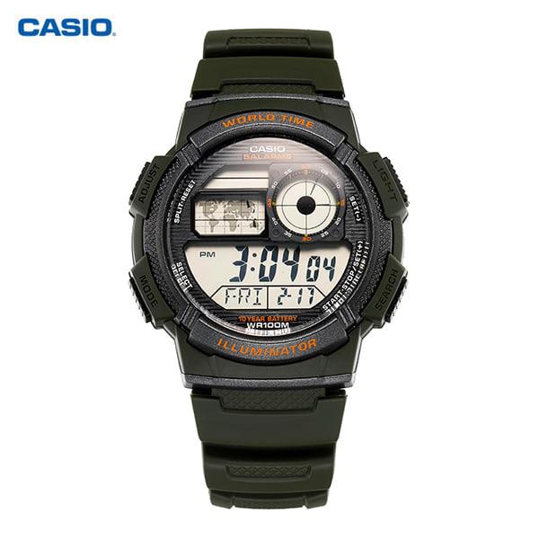 [카시오시계 CASIO] AE-1000W-3AVDF 우레탄밴드 학생/군인/스포츠 43mm