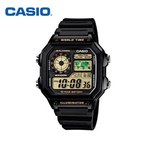 [카시오시계 CASIO] AE-1200WH-1BVDF (AE-1200WH-1B) 아나디지라인,군인시계,스포츠시계