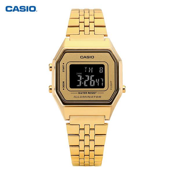 [카시오시계 CASIO] LA680WGA-9BDF (LA680WGA-9B) / 전자 디지털 여성 메탈시계 41mm 타임메카