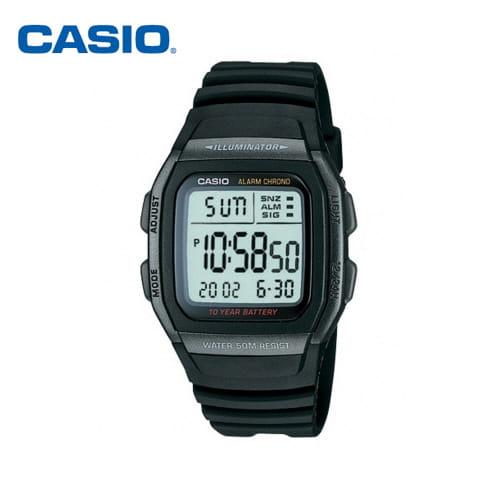 [카시오시계 CASIO] W-96H-1BVDF (W-96H-1B) 디지털 학생/군인/스포츠 시계 44x36mm