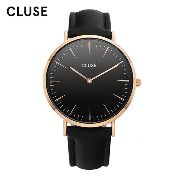[클루즈시계 CLUSE] CL18001 / 라보엠 La Boheme Rose Gold Black Black 38mm
