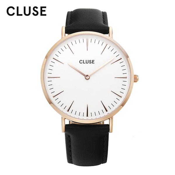 [클루즈시계 CLUSE] CL18008 / 라보엠 La Boheme Rose Gold White Black 38mm
