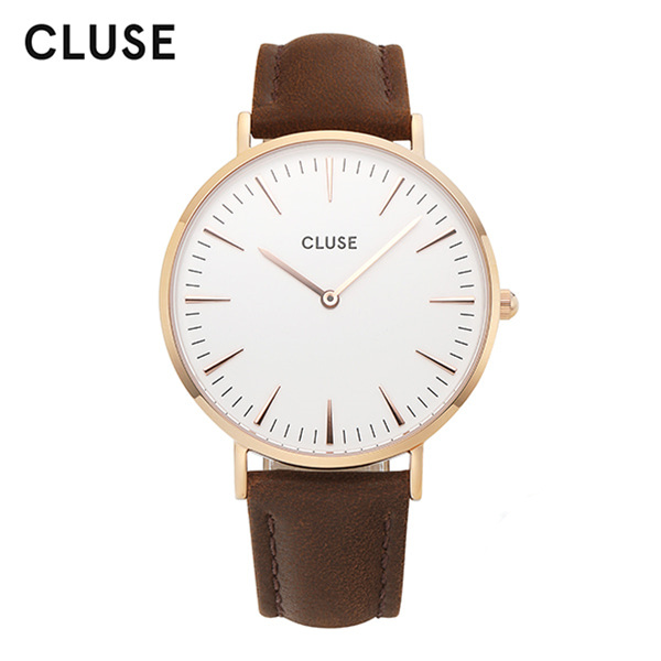 [클루즈시계 CLUSE] CL18010 / 라보엠 La Boheme Rose Gold White Brown 38mm