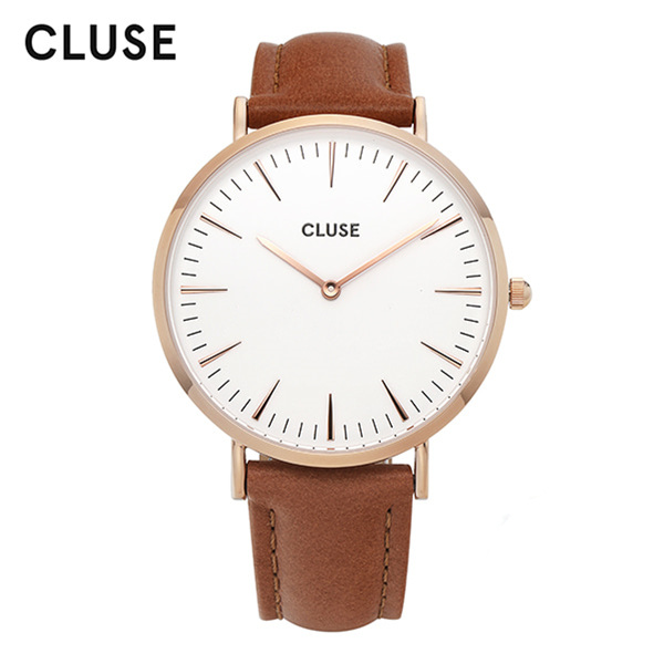 [클루즈시계 CLUSE] CL18011 / 라보엠 La Boheme Rose Gold White Caramel 38mm