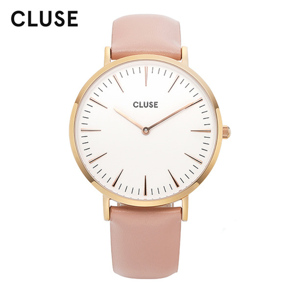 [클루즈시계 CLUSE] CL18014 / 라보엠 La Boheme Rose Gold White Pink 38mm