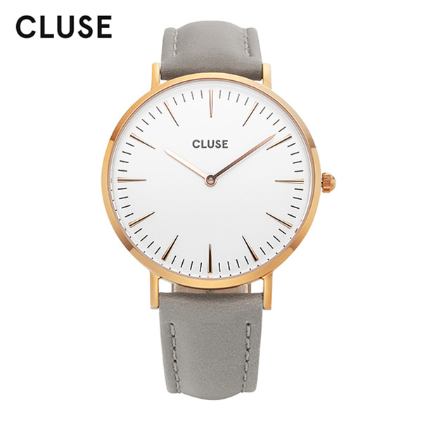 [클루즈시계 CLUSE] CL18015 / 라보엠 La Boheme Rose Gold White Grey 38mm