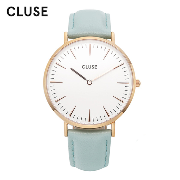 [클루즈시계 CLUSE] CL18021 / 라보엠 La Boheme Rose Gold White Pastel Mint 38mm
