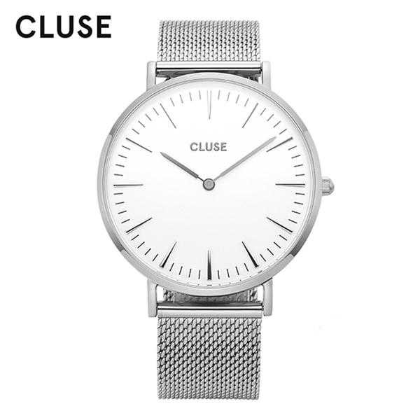 [클루즈시계 CLUSE] CL18105 / 라보엠 La Boheme Mesh Silver White 38mm