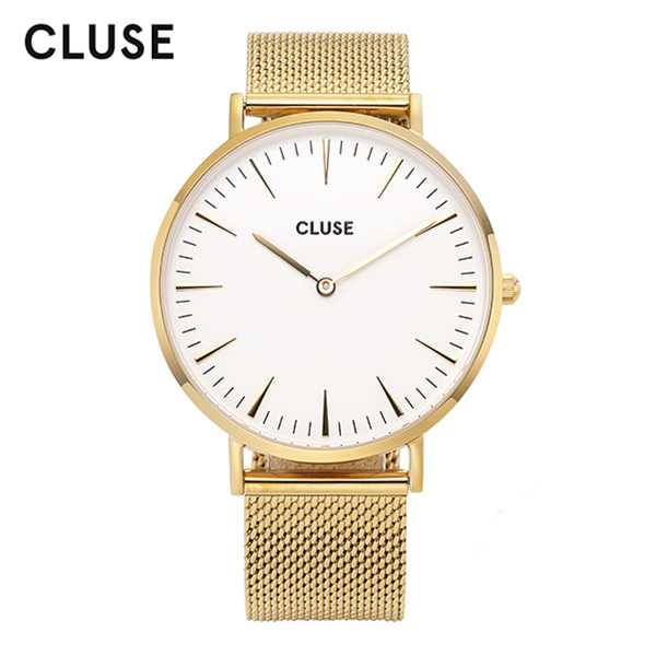 [클루즈시계 CLUSE] CL18109 / 라보엠 La Boheme Mesh Gold White 38mm