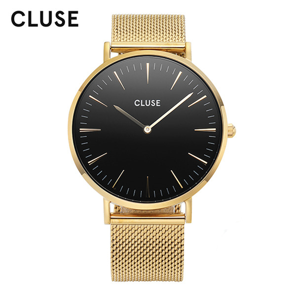 [클루즈시계 CLUSE] CL18110 / 라보엠 La Boheme Mesh Gold Black 38mm