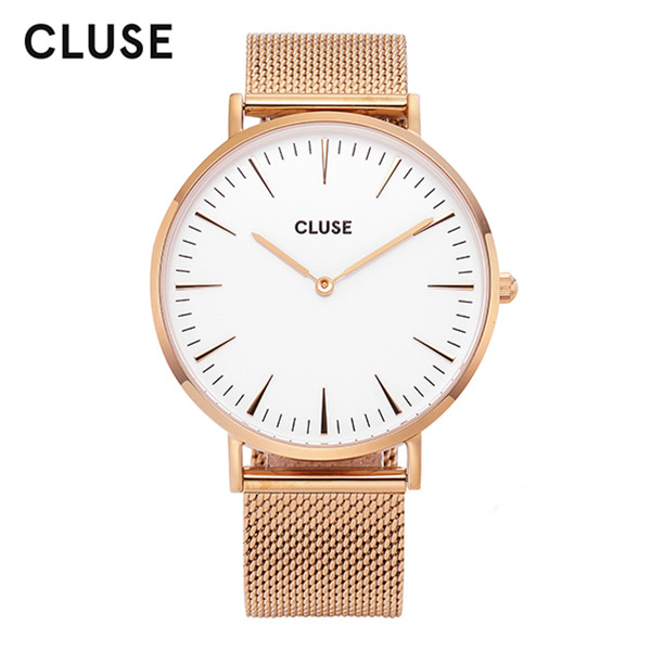 [클루즈시계 CLUSE] CL18112 / 라보엠 La Boheme Mesh Rose Gold White 38mm