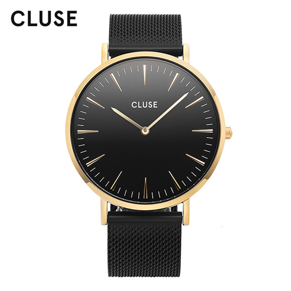 [클루즈시계 CLUSE] CL18117 / 라보엠 La Boheme Mesh Gold Black Black 38mm