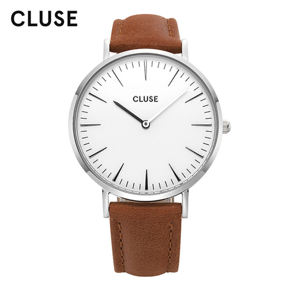 [클루즈시계 CLUSE] CL18210 / 라보엠 La Boheme Silver White Brown 38mm