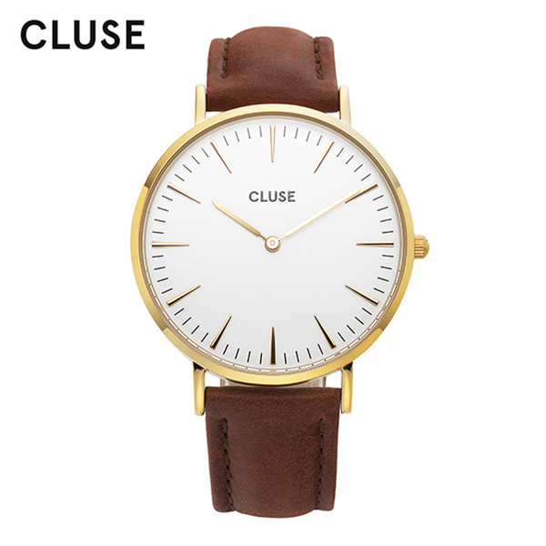 [클루즈시계 CLUSE] CL18408 / 라보엠 La Boheme Gold White Brown 38mm