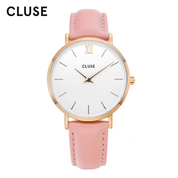 [클루즈시계 CLUSE] CL30001 / 미닛 Minuit Rose Gold White Pink 33mm