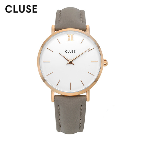 [클루즈시계 CLUSE] CL30002 / 미닛 Minuit Rose Gold White Grey 33mm