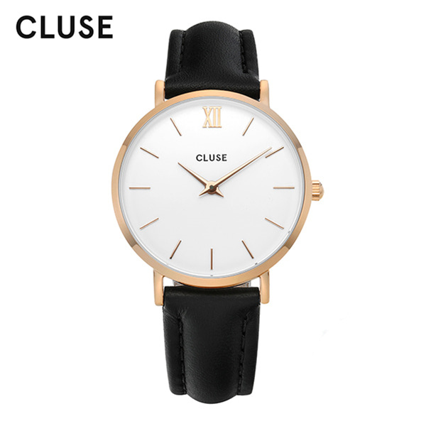 [클루즈시계 CLUSE] CL30003 / 미닛 Minuit Rose Gold White Black 33mm