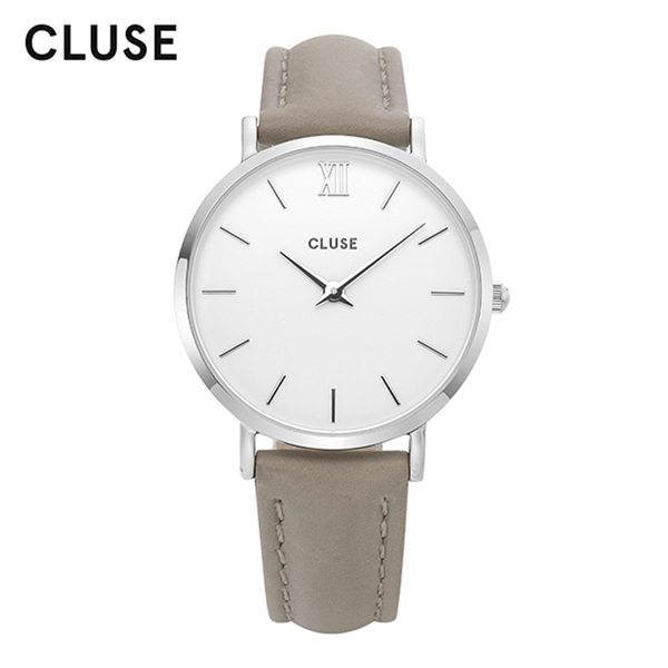 [클루즈시계 CLUSE] CL30006 / 미닛 Minuit Silver White Grey 33mm