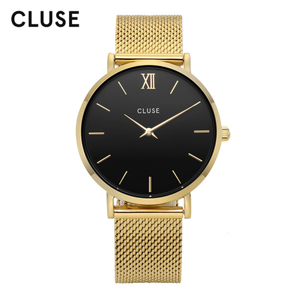 [클루즈시계 CLUSE] CL30012 / 미닛 Minuit Mesh Gold Black 33mm