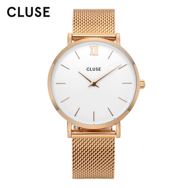 [클루즈시계 CLUSE] CL30013 / 미닛 Minuit Mesh Rose Gold White 33mm