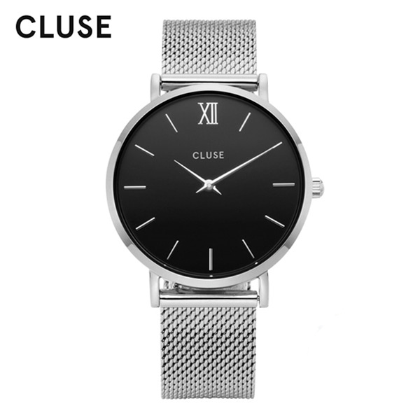 [클루즈시계 CLUSE] CL30015 / 미닛 Minuit Mesh Silver Black 33mm