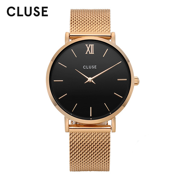 [클루즈시계 CLUSE] CL30016 / 미닛 Minuit Mesh Rose Gold Black 33mm