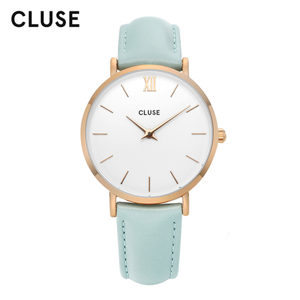 [클루즈시계 CLUSE] CL30017 / 미닛 Minuit Rose Gold White Pastel Mint 33mm