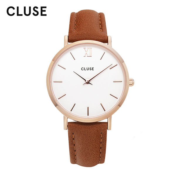 [클루즈시계 CLUSE] CL30021 / 미닛 Minuit Rose Gold White Caramel 33mm