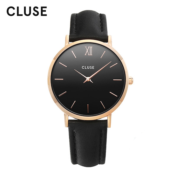 [클루즈시계 CLUSE] CL30022 / 미닛 Minuit Rose Gold Black Black 33mm
