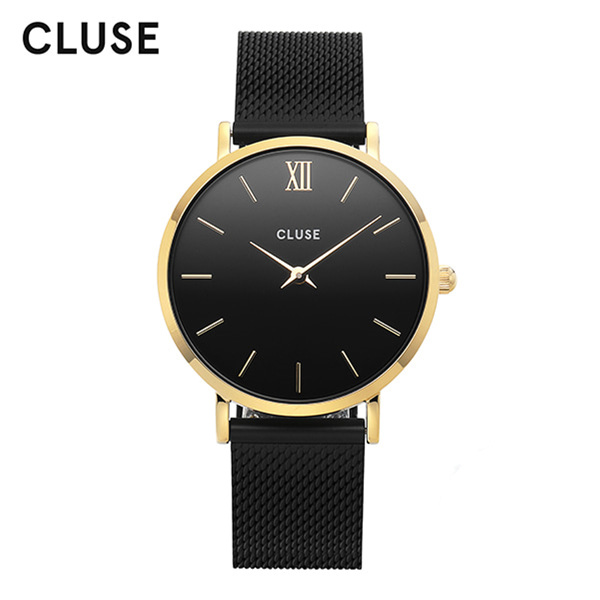 [클루즈시계 CLUSE] CL30026 / 미닛 Minuit Mesh Gold Black Black 33mm