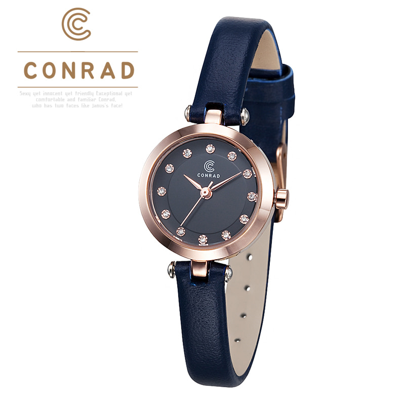 [콘라드시계 CONRAD] CD002WL-RGNV 여성용 가죽밴드 23mm [한국본사정품] 공승연 착용 시계