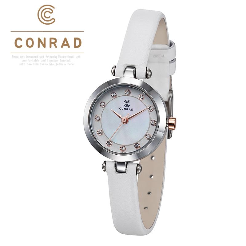 [콘라드시계 CONRAD] CD002WL-WTWT 여성용 가죽밴드 23mm [한국본사정품]