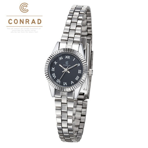 [콘라드시계 CONRAD] CD007WM-WTBK 여성용 메탈밴드 21mm