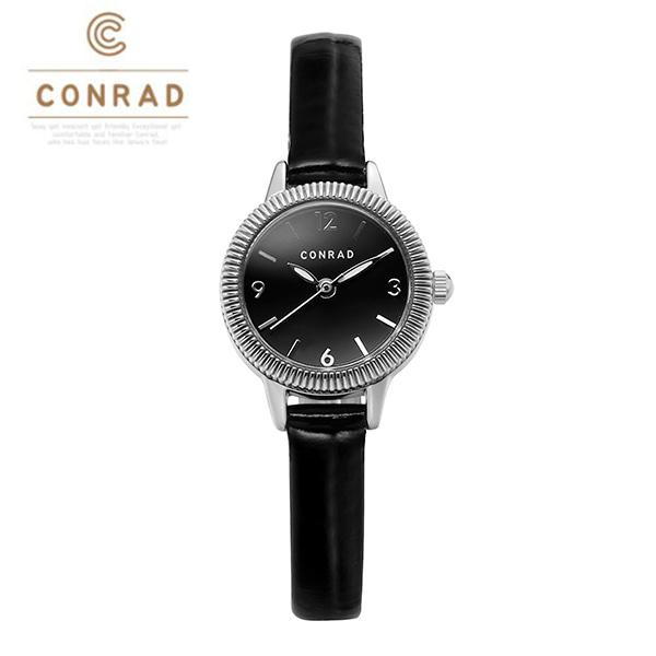 [콘라드시계 CONRAD] CD008WL-WTBK 여성용 가죽밴드 22mm