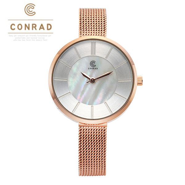 [콘라드시계 CONRAD] CD009WM-RGWT 여성용 매쉬밴드 30mm