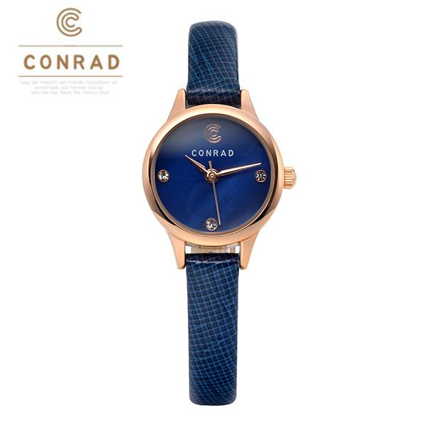 [콘라드시계 CONRAD] CD010WL-RGBU 여성용 가죽밴드 22mm