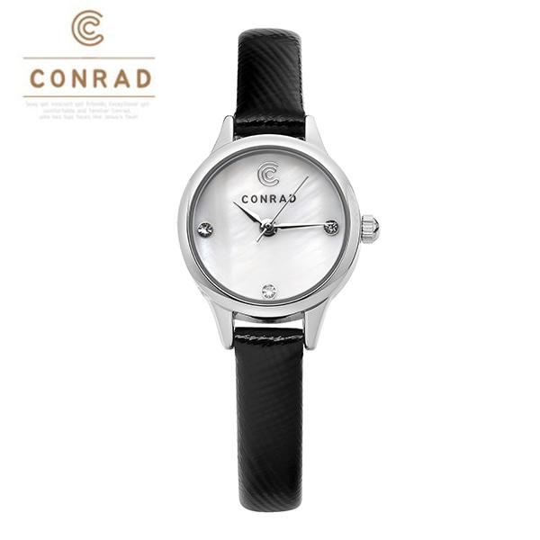 [콘라드시계 CONRAD] CD010WL-WTBK 여성용 가죽밴드 22mm