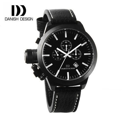 [대니시 디자인시계 DANISH DESIGN] IQ16Q888 크로노그래프 남성용 가죽시계 54mm(용두포함) [한국본사정품]