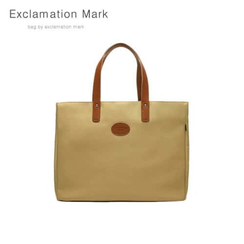 [익스클라메이션마크 ExclamationMark] E007-beige / TOTE BAG