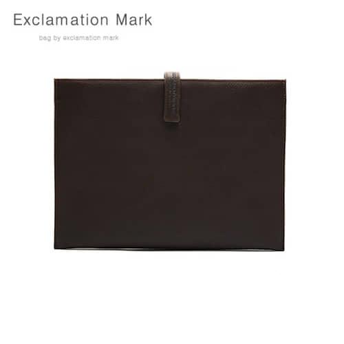 [익스클라메이션마크 ExclamationMark] E012-darkbrown / CLUTCH BAG