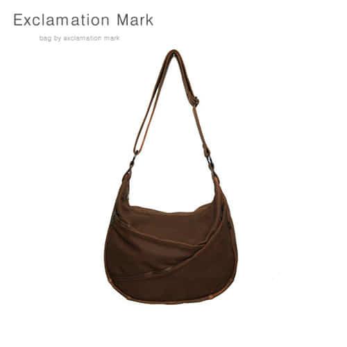 [익스클라메이션마크 ExclamationMark] E014-darkbrown / CROSS BAG